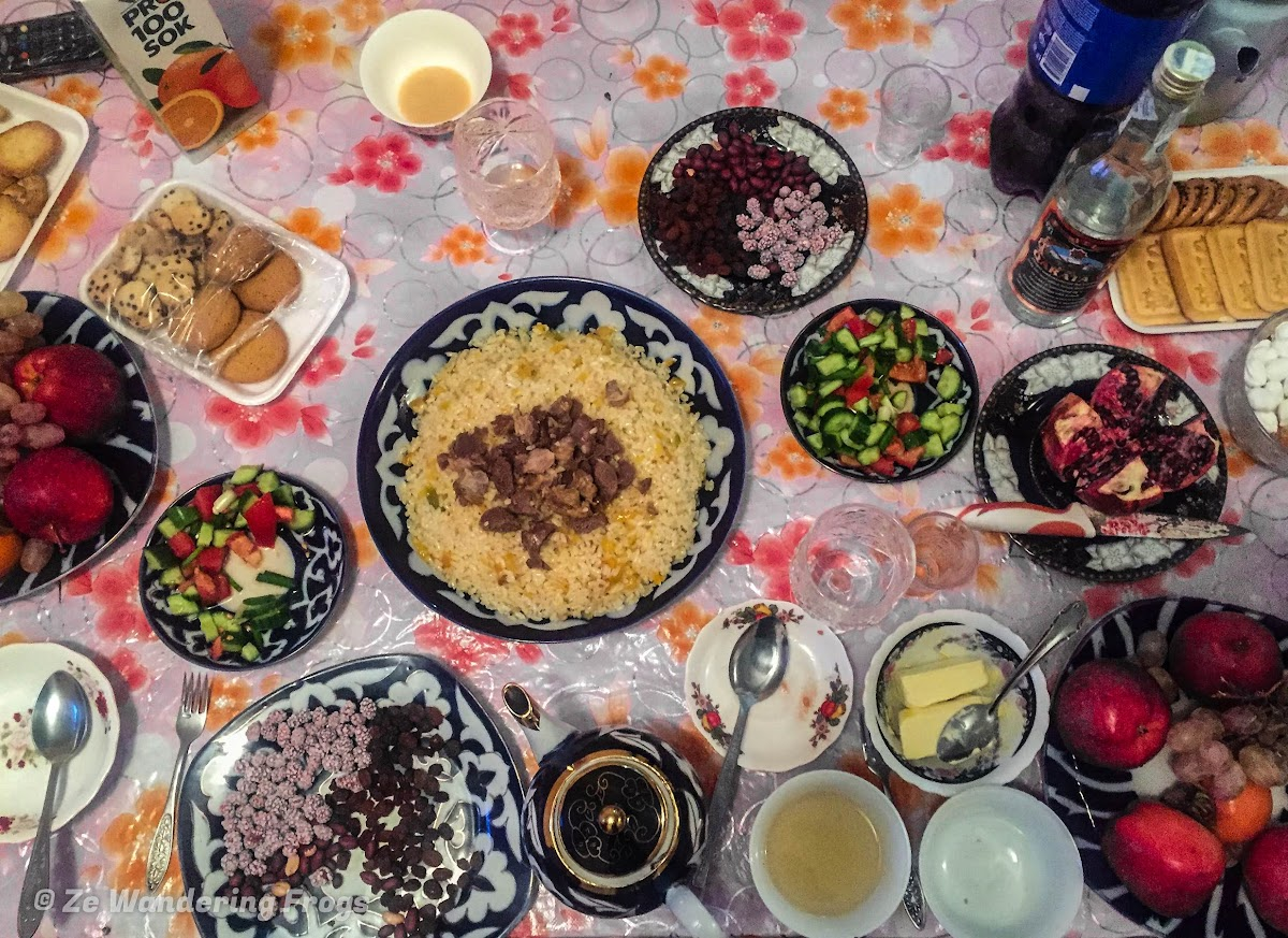 Off-the-Beaten Path Uzbekistan: A 3-Day Aral Sea Tour // Uzbek Hospitality: Tea Time at our Guesthouse