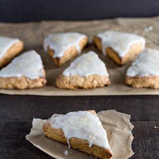 Gingerbread Scones with Lemon Glaze