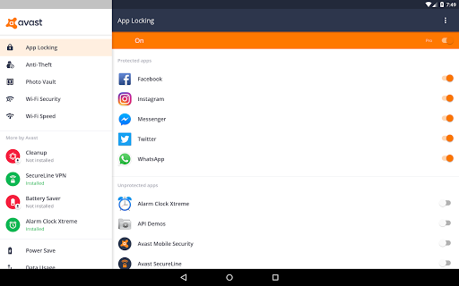avast for tablet android