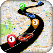 Driving Route Finder : Live Earth Maps & Tracking