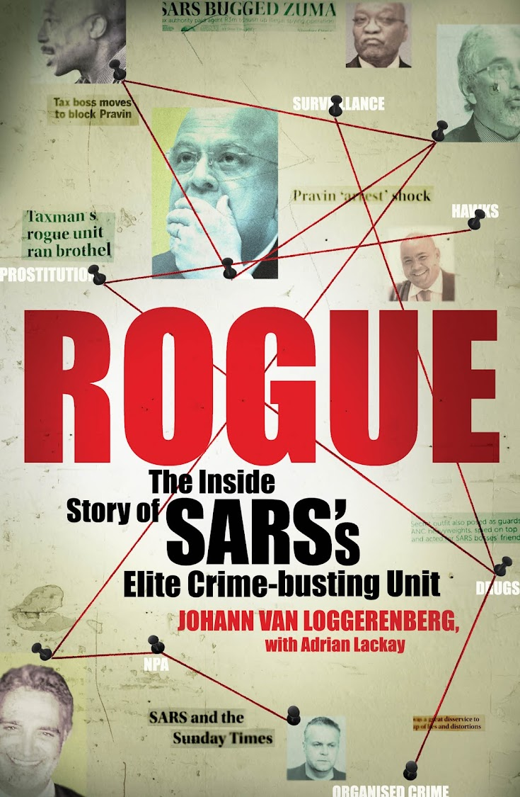 The cover of Van Loggerenberg's book, Rogue