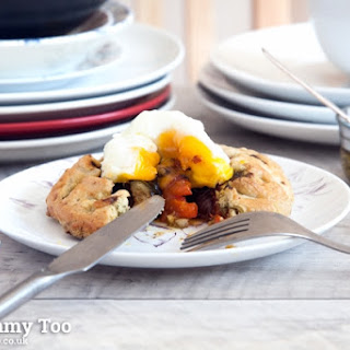 Roast Vegetable Mini Galette With Poached Egg.