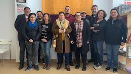 Miembros de la renovada dirección local de IU Níjar.