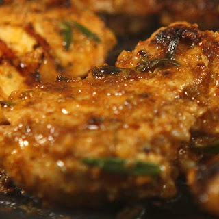 Spicy chicken thighs baked or BBQ'd