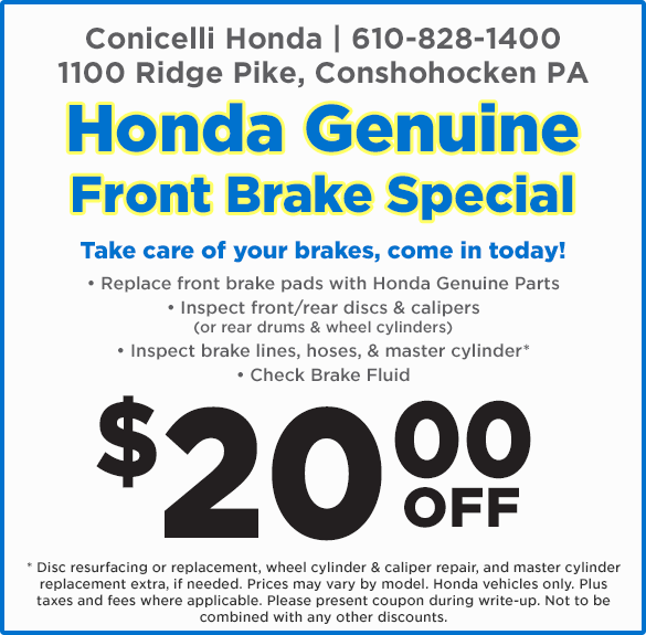 Front Brake Special At Conicelli Honda