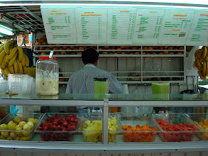 Photo: my favorite local fruit juice stand