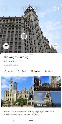 IU de GoogleLens