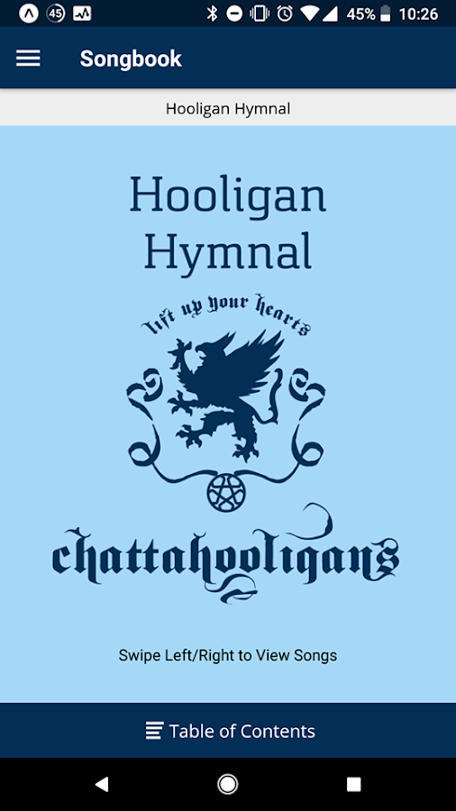 Chattahooligan Hymnal BETA- screenshot