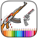 Gun Coloring Books - Color App icon