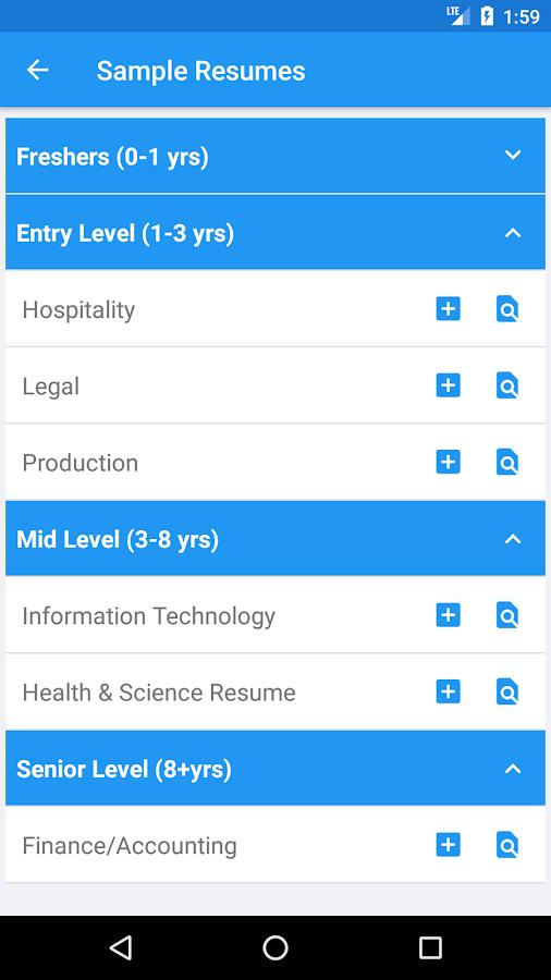 smart resume builder free cv maker templates screenshot - Smart Resume Builder