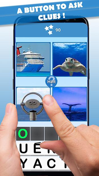 4 pics 1 word Android App Screenshot