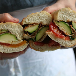 Zucchini Parmesan Subs with Tomatoes and Basil