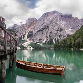 Braies by Emanuele Brilli - Transportation Boats ( mountain, lake, dolomites, boat, italy )
