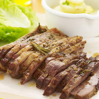 Barbecued Balsamic Butterflied Lamb.