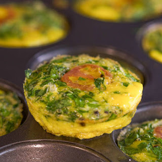 Spinach and Tomato Mini Frittatas