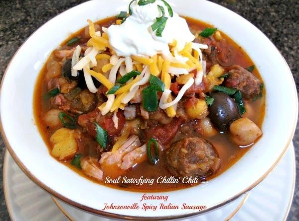 Soul Satisfying Chillin' Chili Recipe