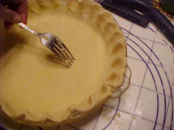 Note: For a pre-baked pie shell like for lemon meringue be sure to poke...