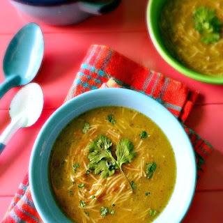Sopa De Fideo Verde (Salsa Verde Mexican Fideo Soup) #SoupWeek Recipe