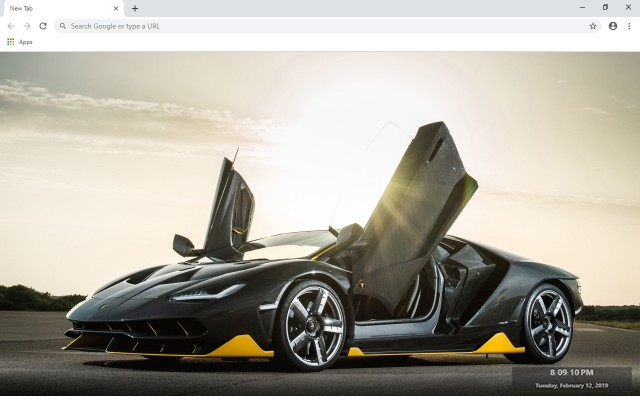 Lamborghini New Tab & Wallpapers Collection