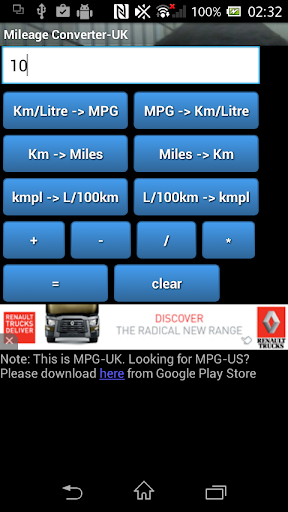 Fuel Mileage Converter MPG_UK