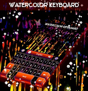Akvarelová klávesnice - náhled