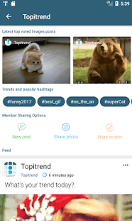 Topitrend - community's topics and social network - náhled