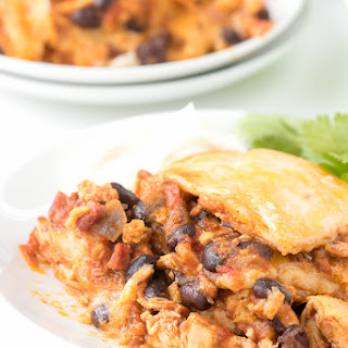Mexican Breakfast Chicken Tortilla Lasagna Casserole