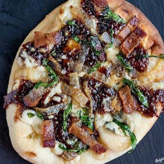 Bacon Fig Gorgonzola Pizza.
