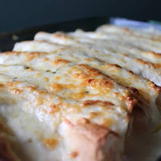 Chicken Enchiladas with Sour Cream White Sauce.