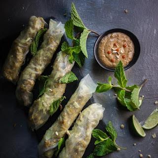 Lemongrass Chicken Spring Rolls.