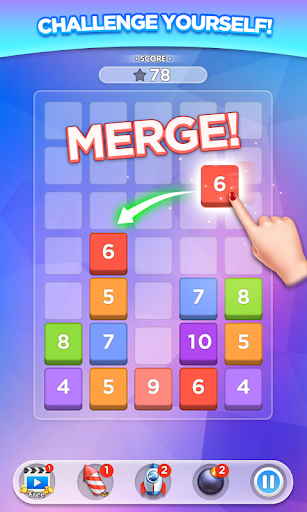 Merge Number Puzzle apktram screenshots 1