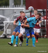 Photo: Stenhousemuir fc v Dunfermline fc, Scottish League 1, Ochilview , 24-08-13Brown Ferguson and Josh Falkingham(c) David Wardle