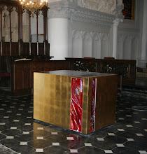 Photo: Autel feuille d'or et fusing - Eglise de Watten