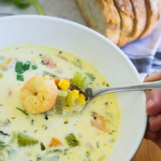 Shrimp, Corn and Bacon Chowder Recipe