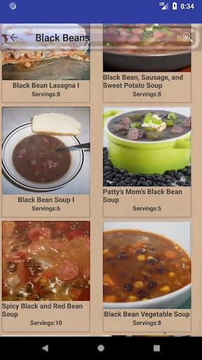 Bean and Legume Recipes: Casseroles Soups & Salads 3.0 screenshots 2