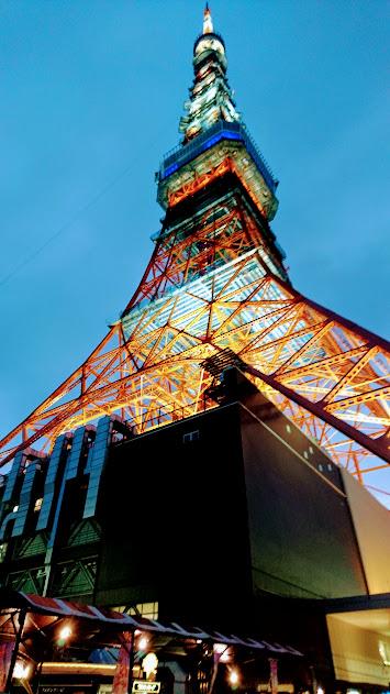 ライトアップされた東京タワー