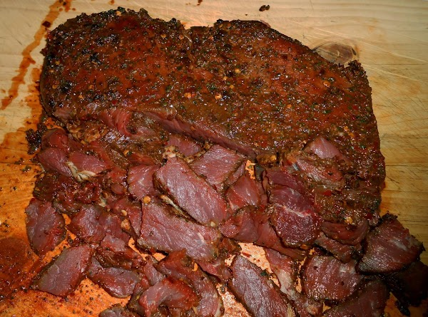 I rubbed the meat and let it sit in fridge over night uncovered. ...