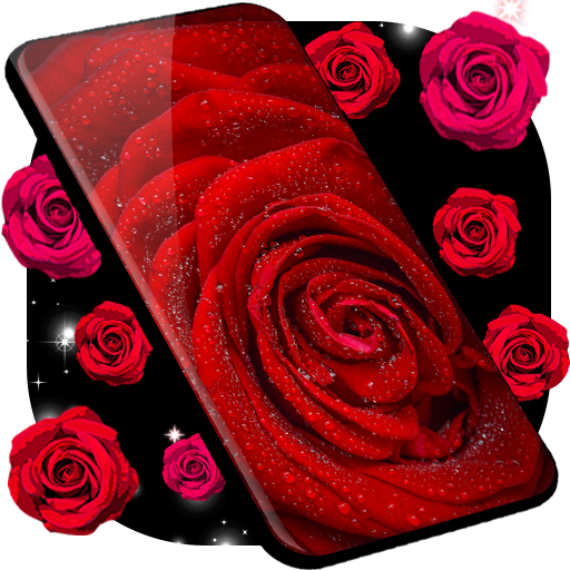 Red Rose Live Wallpaper Hq Background Changer Apps On Google Play