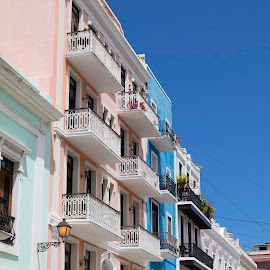 Old San Juan by Darlene Moyer - Buildings & Architecture Homes ( puerto rico, color, old san juan, house, balcony )