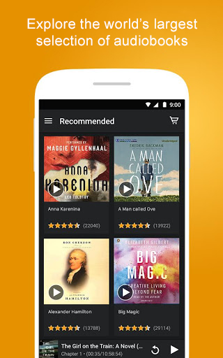 Screenshot 0 for Audible's Android app'