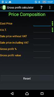 Gross profit calculator PRO - náhled