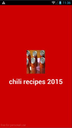 chili recipes 2015