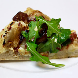 Fig Pancetta Goat Brie Pizza with Arugula