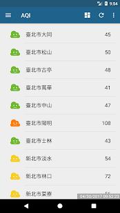 J霧霾 - 台灣空氣品質監控  螢幕截圖 1