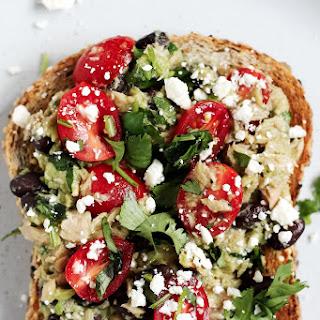 High-Protein Black Bean Avocado Tuna Salad Sandwiches.