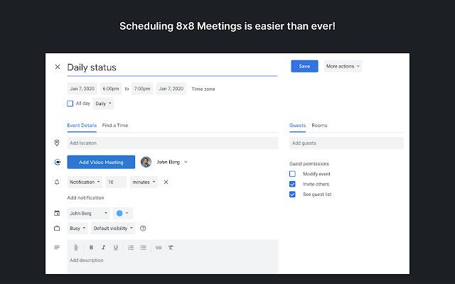 8x8 Meet for Google Chrome