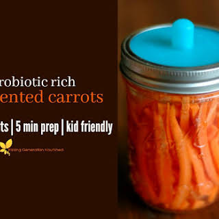 Fermented Carrots {that kids will actually eat!} & The Benefits of Fermented Vegetables.