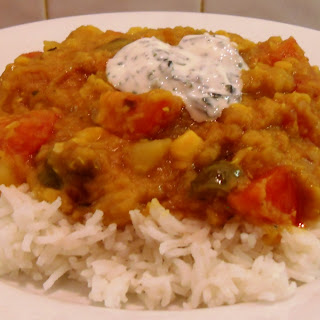 Vegetable Dhal Curry.