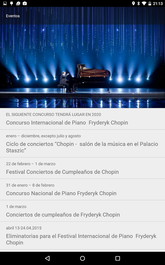 Chopin in Warsaw: captura de pantalla
