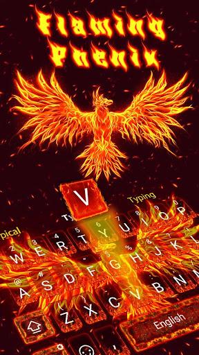Fire Phoneix Legend Keyboard Theme 4.5 screenshots 1